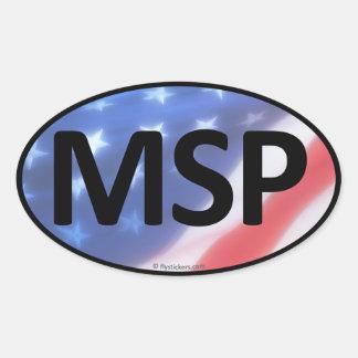 Pegatina del óvalo de MSP
