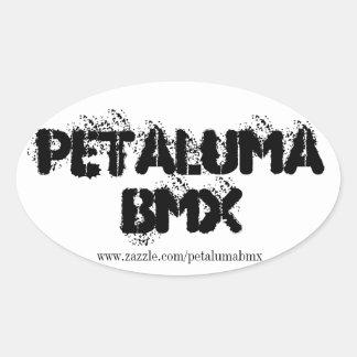 Pegatina del óvalo de Petaluma BMX