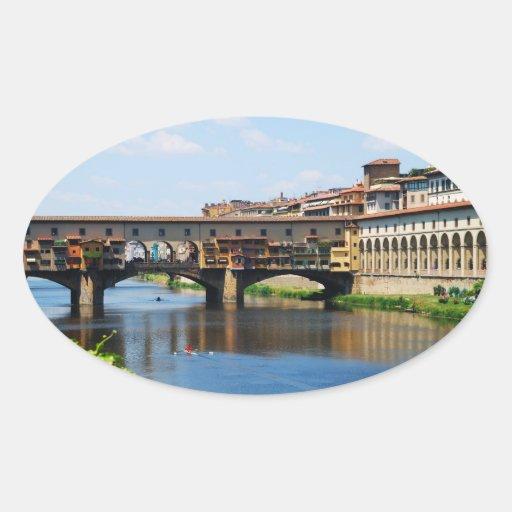 Pegatina del óvalo de Ponte Vecchio