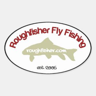 pegatina del óvalo de roughfisher.com