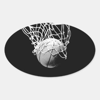 Pegatina del óvalo del baloncesto
