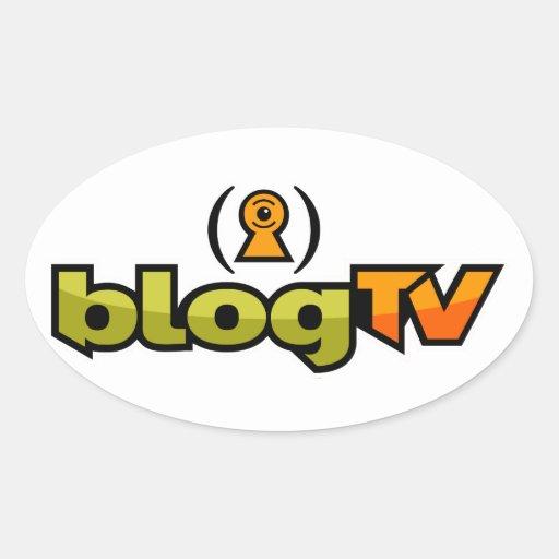 pegatina del óvalo del blogTV