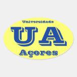 Pegatina del óvalo del DOS Açores* de Universidade