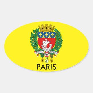 Pegatina del óvalo del escudo de París