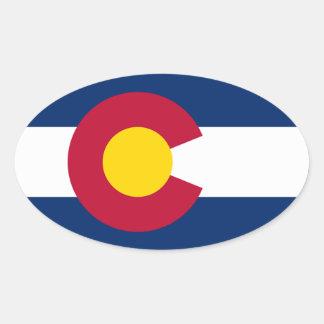 Pegatina del óvalo del estado de Colorado
