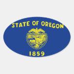 Pegatina del óvalo del estado de Oregon