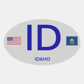 Pegatina del óvalo del Euro-estilo de Idaho*