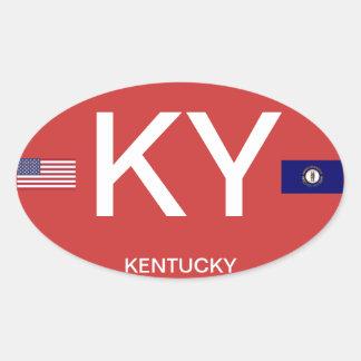 Pegatina del óvalo del Euro-estilo de Kentucky*