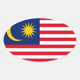 Pegatina del óvalo del Euro-estilo de Malaysia*