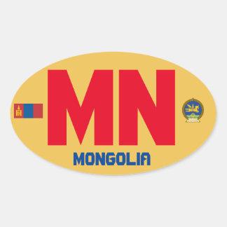 Pegatina del óvalo del Euro-Estilo de Mongolia*
