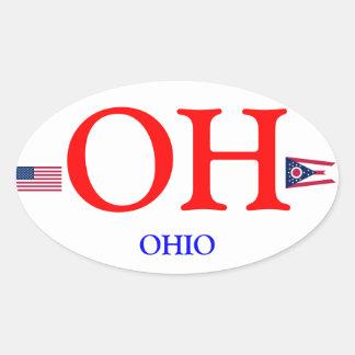 Pegatina del óvalo del Euro-estilo de Ohio*