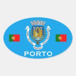 Pegatina del óvalo del Euro-estilo de Oporto