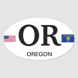 Pegatina del óvalo del Euro-Estilo de Oregon*