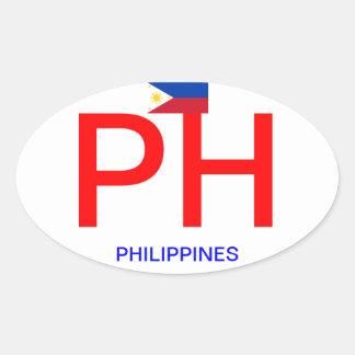 Pegatina del óvalo del Euro-estilo de Philippines*