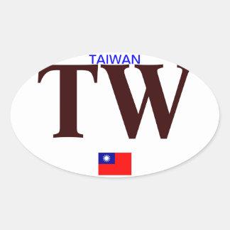 Pegatina del óvalo del Euro-estilo de TAIWAN*-