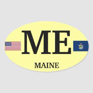 Pegatina del óvalo del Europea-estilo de Maine*