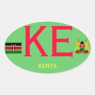 Pegatina del óvalo del Europeo-estilo de KENYA*-