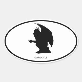 Pegatina del óvalo del Gargoyle