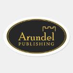 Pegatina del óvalo del logotipo de Arundel