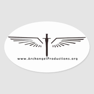 Pegatina del óvalo del logotipo de las