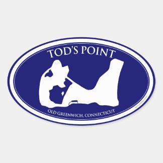 Pegatina del óvalo del punto de Tod's