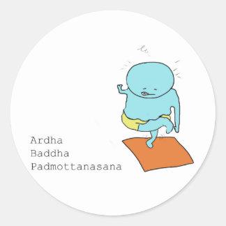 pegatina del padmottanasana del baddha del ardha