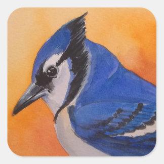 Pegatina del pájaro del arrendajo azul