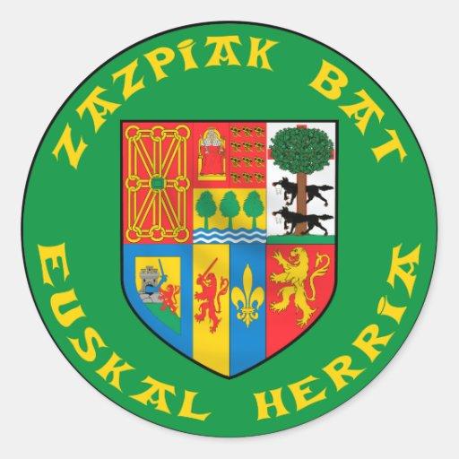 Pegatina del palo de Zazpiak