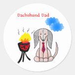 Pegatina del papá de Brown del Dachshund
