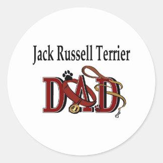 Pegatina del papá de Jack Russell Terrier
