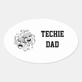 Pegatina del papá de Techie