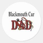Pegatina del papá del Cur de Blackmouth