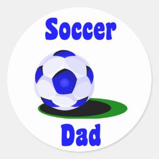 Pegatina del papá del fútbol