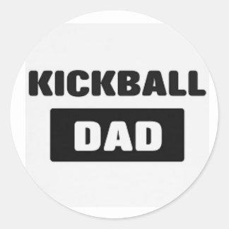 pegatina del papá del kickball