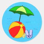 Pegatina del paraguas de la piscina de la pelota