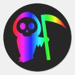 Pegatina del parca tres del arco iris