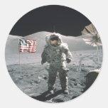 Pegatina del paseo de la luna del último de Apolo