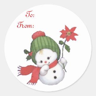 Pegatina del pegatina del regalo de Snowbaby