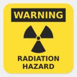 Pegatina del peligro de radiación