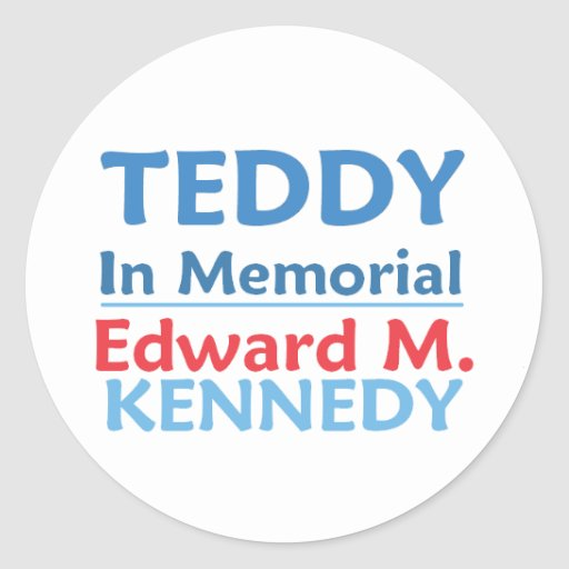 Pegatina del PELUCHE de Ted Kennedy