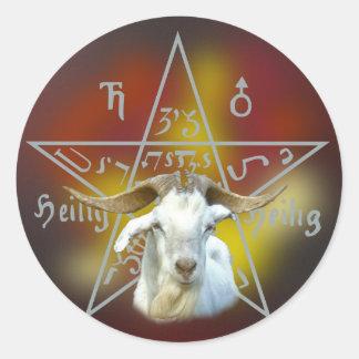 Pegatina del pentáculo y de la cabra