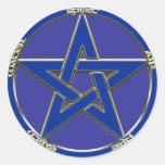Pegatina del Pentagram de la tierra, del aire y