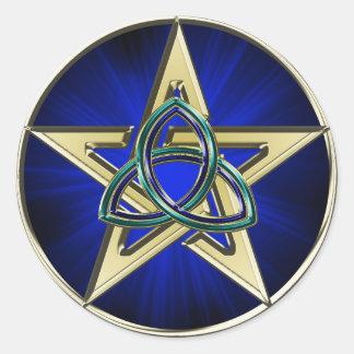 Pegatina del Pentagram de Triquetra