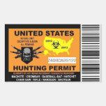 Pegatina del permiso de la caza del zombi