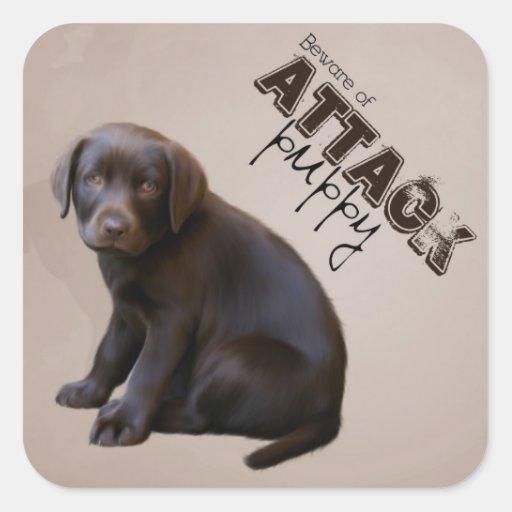 Pegatina del perrito de Labrador