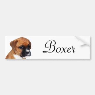 Pegatina del perrito del boxeador pegatina de parachoque