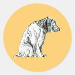 Pegatina del perro