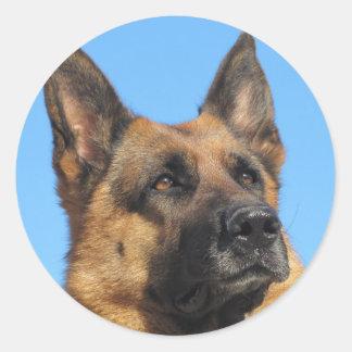 Pegatina del perro de pastor alemán