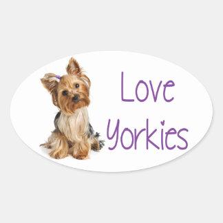 Pegatina del perro de perrito de Yorkies Yorkshire