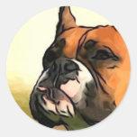 Pegatina del perro del boxeador